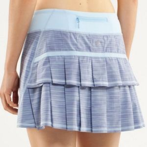 Lululemon Pacer Skirt Blue Lavender Striped Skirt